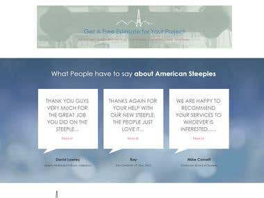 Website development AMERICAN STEEPLES & BAPTISTRIES