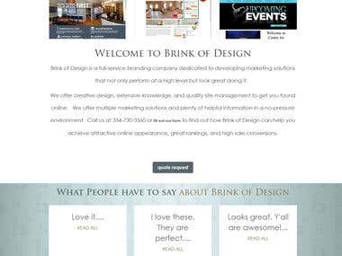 Website development from scratch BRINK OF DESIGN