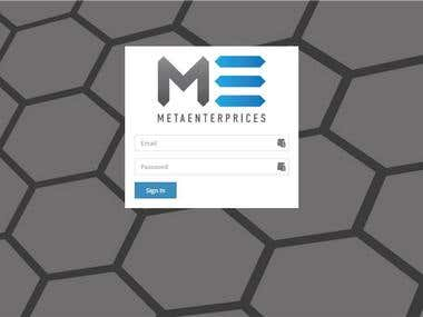 Website development from scratch METAENTERPRICES