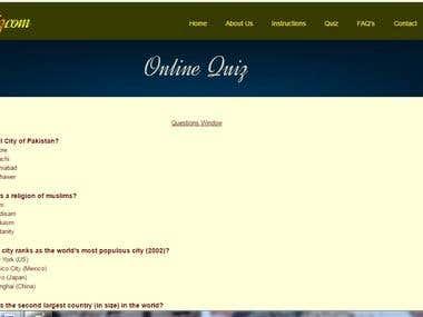 Quiz Management Website