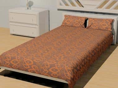 home textile - bed spread design - bedding cover