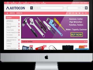 Opencart  E-commerce website.