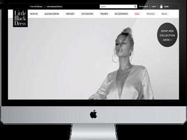 Magento E-commerce website.