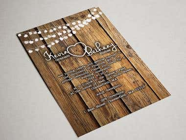 Rustic Wedding Invite & Save the Date