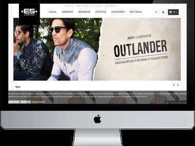 Webdesign for  Online Sport website.
