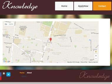 University Admission Website