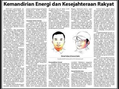 Kemandirian Energi dan Kesejahteraan Rakyat