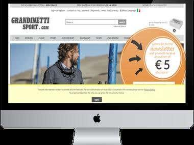 Online shopping website for Sports