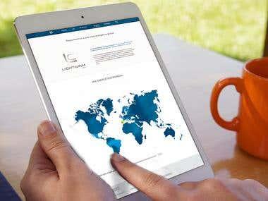 web design energy company