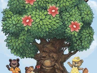 """Поле для настольной игры """"Чудо-дерево"""""""