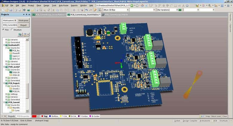 PCB Current Loop Interface 4-20 mA with WiFi ESP Chip | Freelancer
