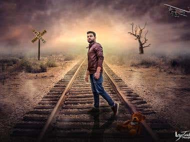 Photoshop manipulation:Railway track