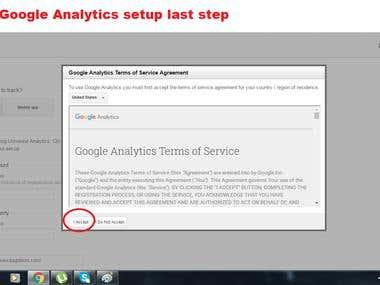 Google Analytics setup demo