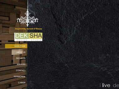 Deksha studio, portfolio website severs its design services
