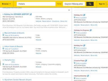 Yellowpages Scraping