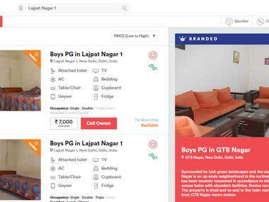Search And book Rental property using Codeigniter