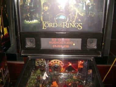 My #2 Top Score on Lord of the Rings Pinball