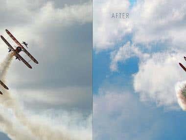 Airshow photograph editing