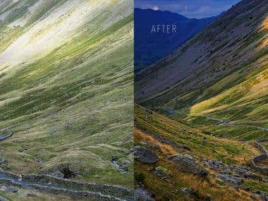 Landscape photography and editing