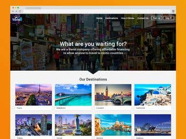 Responsive design for Travel web site