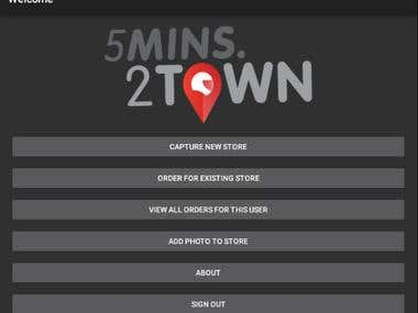 Android app - 5Minutes2Town - Using Xamarin.Android