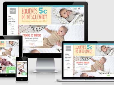 MinutusShop.com - Diseño y desarrollo tienda para bebes