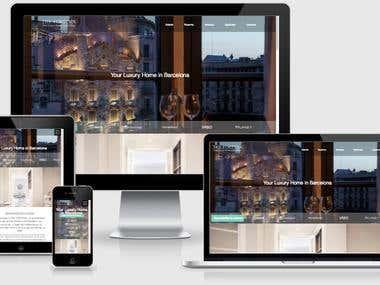 TheFortySix - Maquetación de sitio web alojamiento