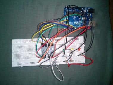 Electronic project using Arduino