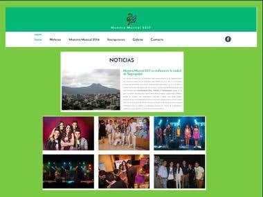 Muestra Musical 2017 web site