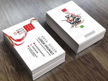 Business card graphic design