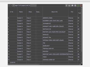 My First Own JavaFX Datagrid