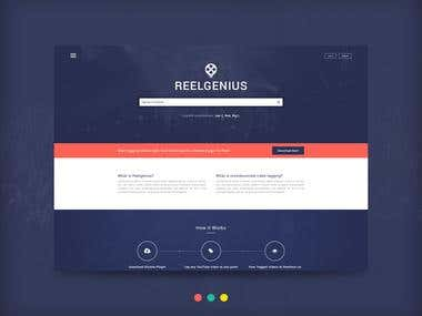 Reelgenius - Website Design