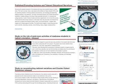 Website for Pak Institute for Peace Studies