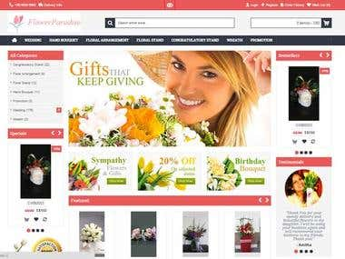 Flower Paradise eCommerce Website Development