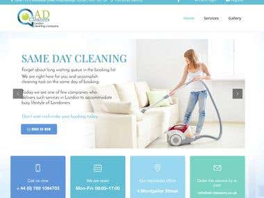 Cleaning Website in London | 2016