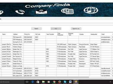 Companies Information Finder