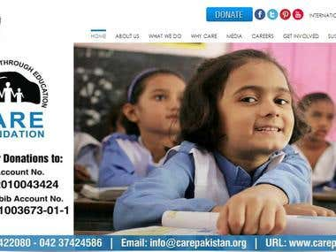 CARE FOUNDATION NGO Website
