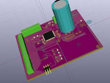 KiCad Satellite Ultrasonic Flowmeter Project