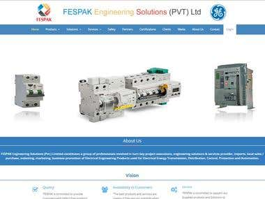Website for Fespak Ltd