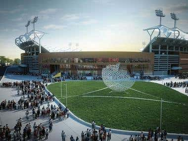 Greenfield International Cricket and Football stadium