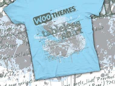WooThemes t-shirt design