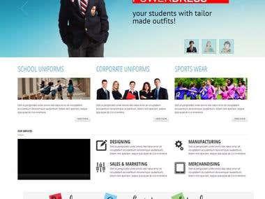 Website create in (Cluster Clothings Website)
