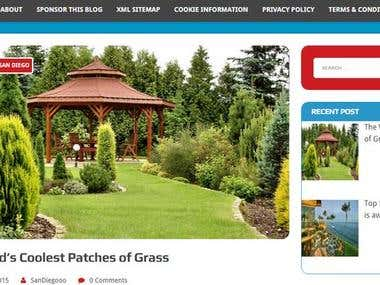 Website create in (GBgardens)