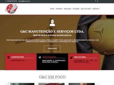 Site G&C Manutenção e Serviços