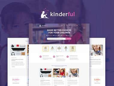 Responsive website - Kinderful