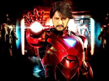 Iron Man Photoshop manipulation