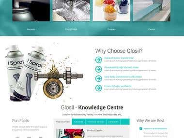 Website create in (Glosil Website)