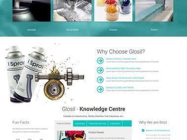 Website create in (Glosil Website)
