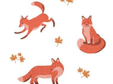 Fox Pattern Design