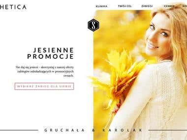 WEB DESIGN / aesthetic medicine clinic
